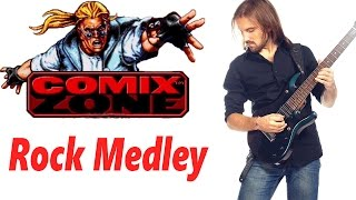 Comix Zone OST cool ROCK medley! (cover by ProgMuz)