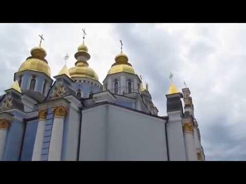 День Независимости Украины: Златоверхий Михайловский Собор в Киеве