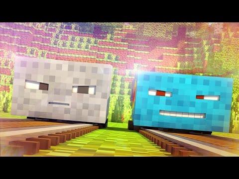 Talking Blocks: Minecarts (Minecraft Animation)