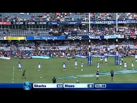 Highlights from the Sharks vs Blues Rd.2 - Blues v Sharks highlights,  Super Rugby Round 2