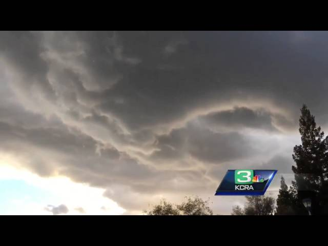 Swirling clouds captured in Placer County
