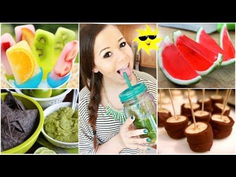 Quick&Healthy Summer Treats+Drinks!
