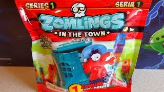 Zomlings In The Town Surprise Blind Bags 100 Figures + Tower to Collect Juguetes Sorpresa
