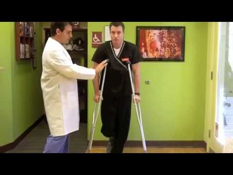 Demonstration In Proper Use Of Crutches