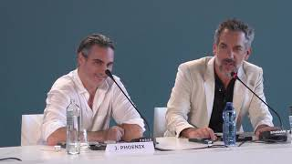 Joaquin Phoenix and Todd Phillips talk JOKER at Venice Film Festival