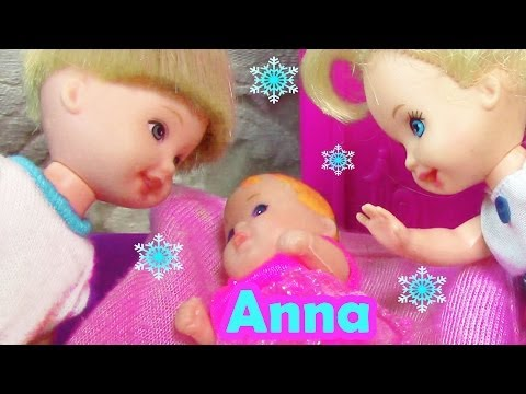 Frozen Parody Baby Princess Anna Meets Toddler Kristoff Elsa Doll Barbie Movie Part 5 video