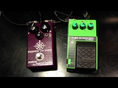 Analog Man Prince Of Tone vs Vintage Ibanez Tube Screamer TS10