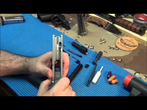 Springfield XD 40 detailed slide disassembly