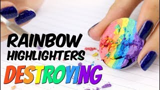 THE MAKEUP BREAKUP - Destroying rainbow highlighters | What colour do they really create?