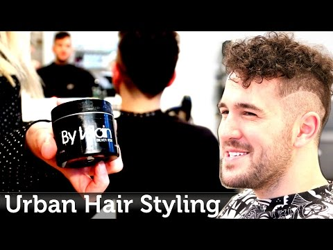 Men's Hair Inspiration   Urban & Edgy Hairstyle   Curly Texture ☆ Razored Line ☆ By Slikhaar TV