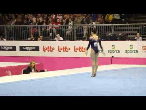 Hannah WHELAN GBR, Floor, Team Final, European Gymnastics Championships 2012