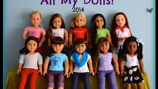 FiveDollStars~ All My Dolls as of 2014