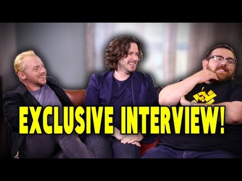 The World's End: Simon Pegg, Nick Frost, and Edgar Wright talk Spoilers and Star Wars