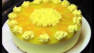 Творожный торт Мандариновый Рай.Очень легкий и вкусный торт.