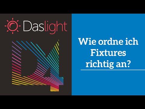 Wie ordne ich Fixtures richtig an? | Daslight 4 DVC4 Videotutorial