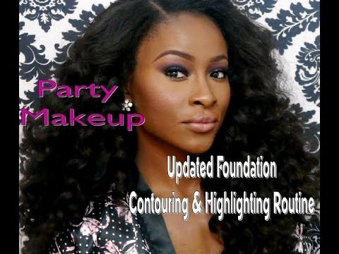 Updated Foundation, Contouring & Highlighting| Party Makeup