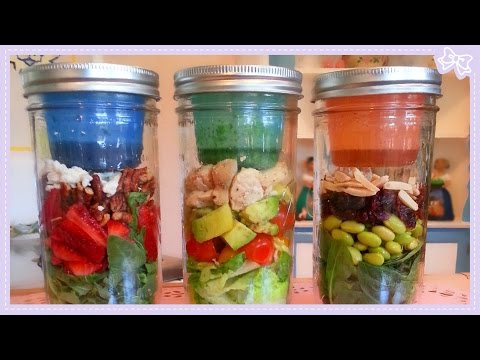 DIY Easy Healthy Salads in a Jar with only 5 Ingredients!
