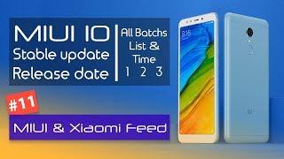 MIUI 10 Global stable update Release date 🇮🇳 Getting smartphones list | MIUI 10 Stable Update
