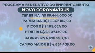 Veja detalhamento de recursos financeiros para enfrentamento à covid-19