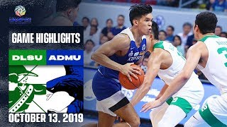 DLSU vs. ADMU - October 13, 2019 | Game Highlights | UAAP 82 MB