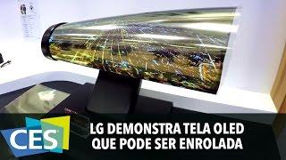 LG DEMONSTRA TELA OLED QUE PODE SER ENROLADA #CES2016