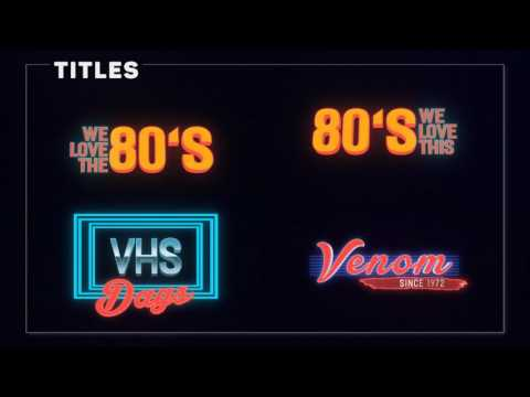 Retro Titles Pack by constantium | VideoHive - After Effects Templates
