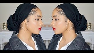 HOW TO: Turban Tutorial (Low Bun)
