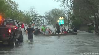 The storm surge and wind of HURRICANE FLORENCE in eastern North Carolina