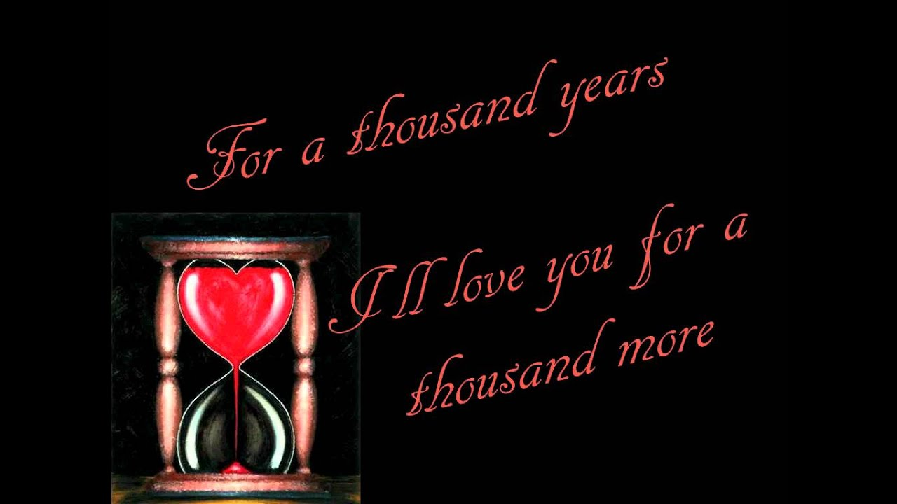 Christina Perri - A Thousand Years (Lyrics) - YouTube