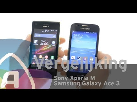 Samsung Galaxy Ace 3 vs Sony Xperia M review (Dutch)