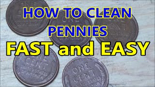 HOW TO CLEAN PENNIES clean coins fast and easy