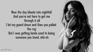 Camila Cabello - Someone You Loved • Lyrics (Lewis Capaldi Cover)