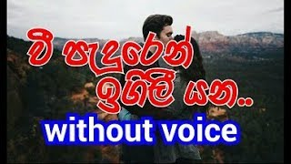 Vee Paduren Igili Yana Karoake (without voice) වී පැදුරෙන් ඉගිලී යන