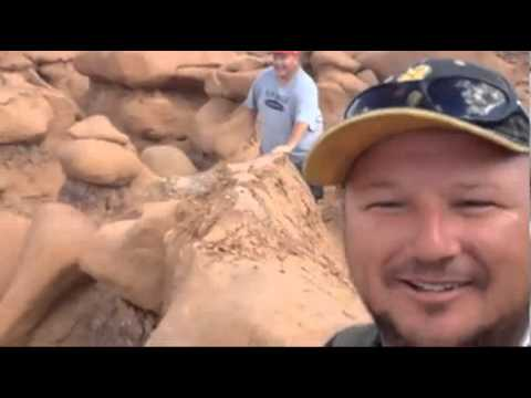 Illegal activity? Men destroy rock formation in Goblin Valley, Utah