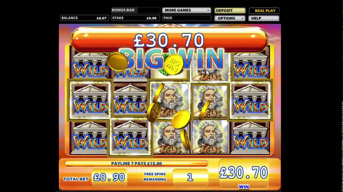 zues free slot machine