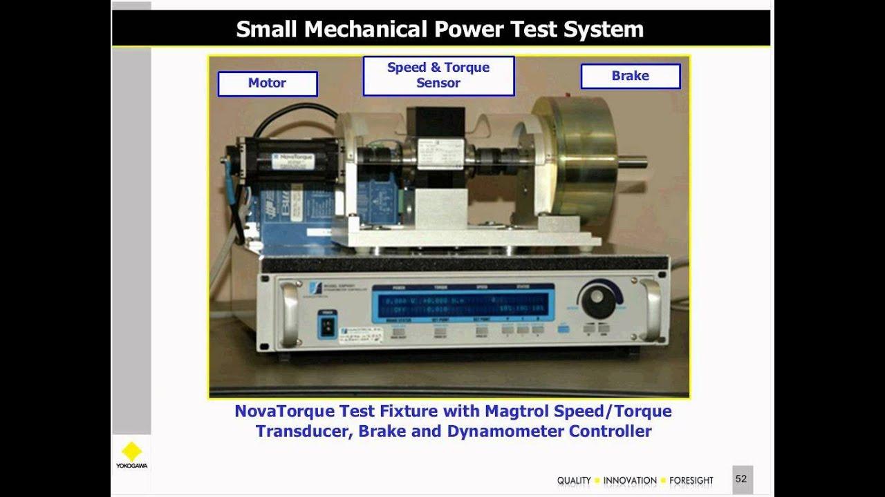 Webinar electric motor testing with a digital power for Testing an electric motor