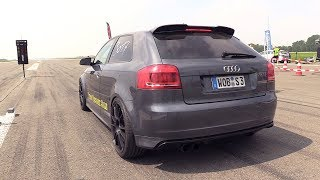 700HP Audi S3 8P w/ Golf 5 R32 Engine - 1/2 Mile Accelerations!
