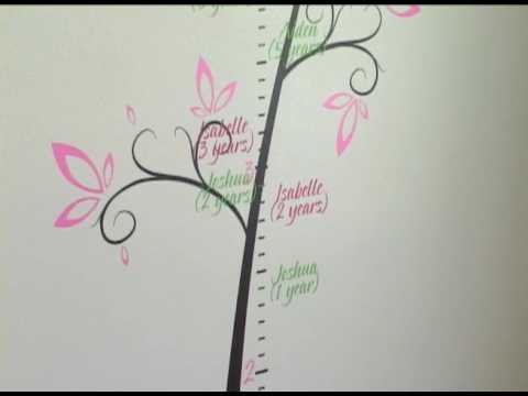 Beautiful Vinyl Tree Growth Chart
