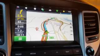 Navitel en navi de serie de Hyundai Tucson