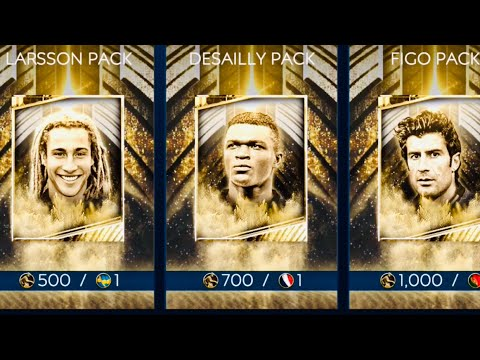 LUCKIEST ICONS BUNDLE PACKS OPENING IN FIFA MOBILE 19-I got three icons-Figo,Desailly,icons gameplay