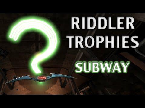 Road To Arkham Knight - Batman Arkham City - Walkthrough Part 56 - Subway Riddler Trophies