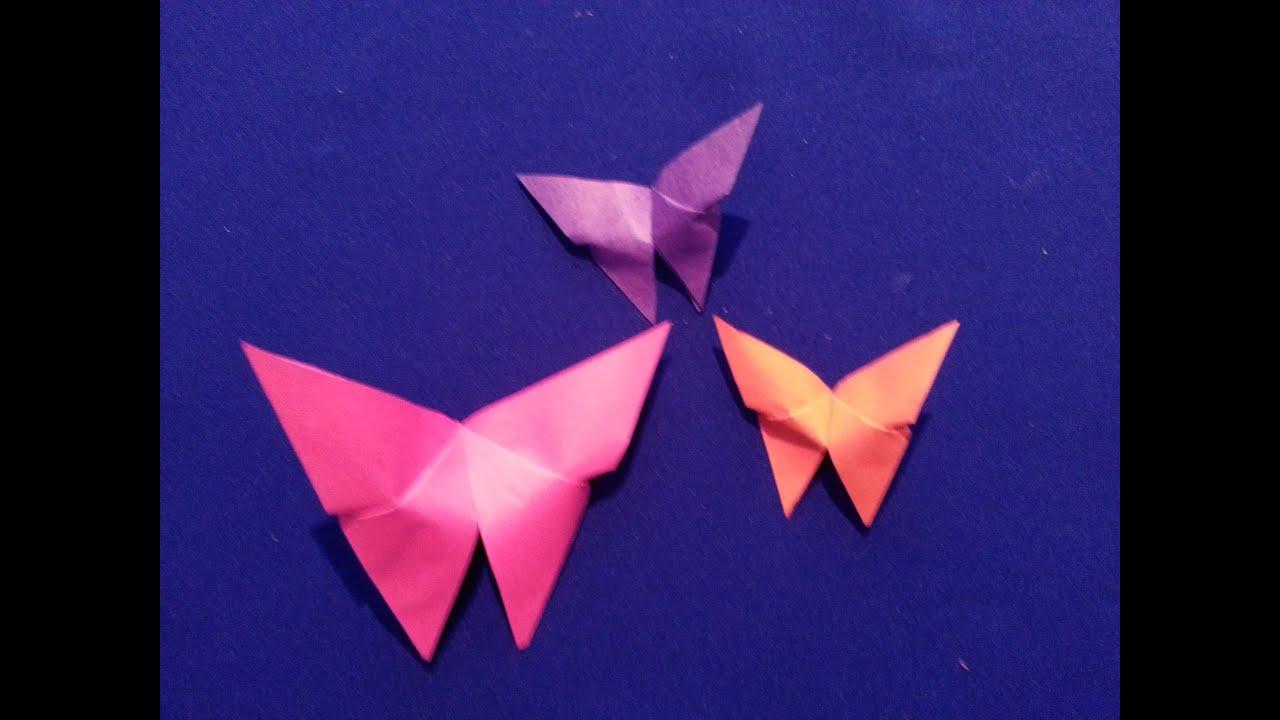 Как сделать бабочку из бумаги урок