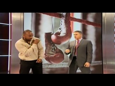 Roy Jones Jr demonstrates fight tactics for Floyd Mayweather & Manny Pacquiao 4/1/15