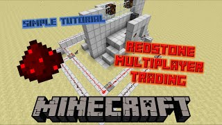 Redstone Multiplayer Trade System | Minecraft Simple Tutorial