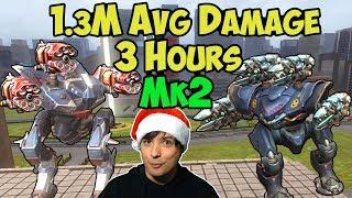 War Robots INSANE 1.3 Mill Average Damage 3 Hour Mk2 Live Gameplay - WR