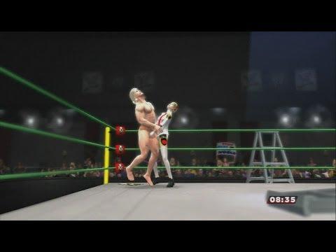 "WWE 2k14 Intergender TLC/Ladder match: ""Naked"" Raiden (MGS2) vs. Aigis (Persona 3/4 Arena)"