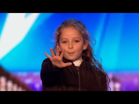 Britain's Got Talent 2017 Issy Simpson Amazing 8 Year Old Magician Full Audition S11E02