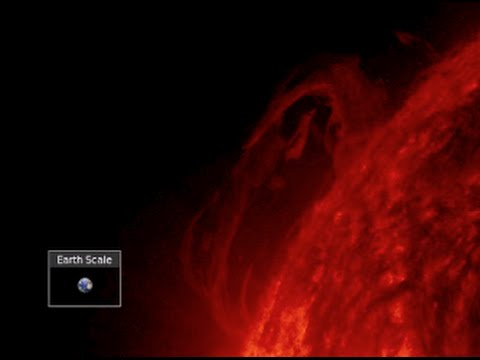 Huge Farside Eruption, Unusual Event in India   S0 News July 2, 2015