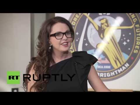 Russia: Soprano Sarah Brightman wanted to perform in space most of her life