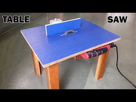 How to Make a Table Saw at Home